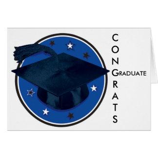 Os parabéns graduam o cartão