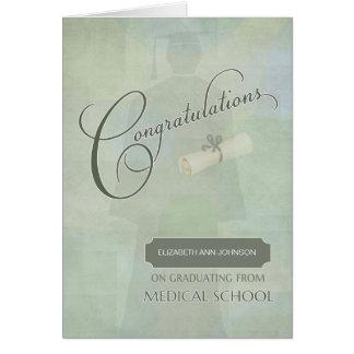 Os parabéns graduam o cartão conhecido da