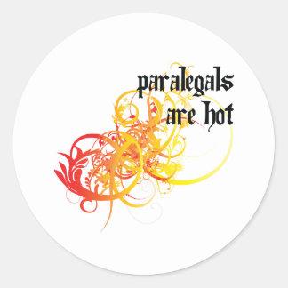 Os Paralegals estão quentes Adesivo Redondo