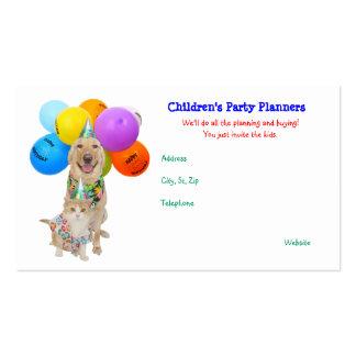 Os partidos customizáveis das crianças engraçadas  cartoes de visita