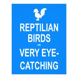 Os pássaros do Reptilian são muito atraentes Modelo De Panfleto
