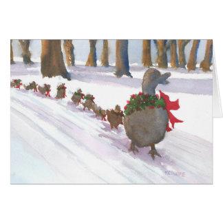 Os patos comuns de Boston vestiram acima o cartão