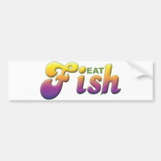 Os peixes, comem adesivos