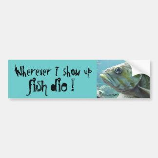 Os peixes morrem adesivo