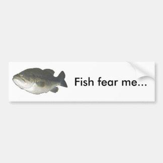 Os peixes temem-me… adesivo para carro