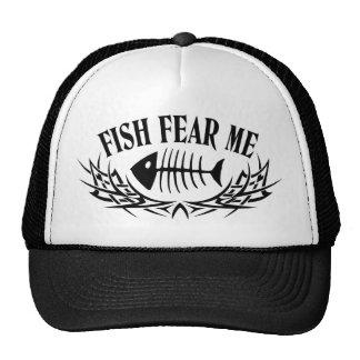 Os peixes temem-me tatuagem boné
