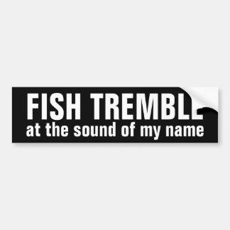 os peixes tremem @ o som de meu autocolante no adesivo para carro