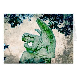 Os pensamentos do anjo cartão de nota