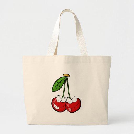 Os personagens de desenho animados da cereja verme bolsa