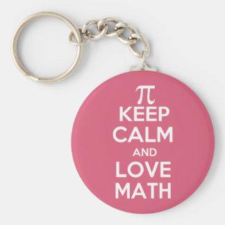 Os Pi mantêm a calma e a matemática do amor Chaveiro