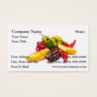 Os pimentões os mais quentes cartão de visitas