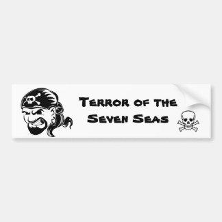 Os piratas são o terror dos sete mares adesivo para carro