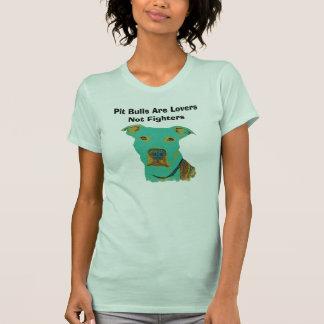Os pitbull são t-shirt dos lutadores dos amantes n