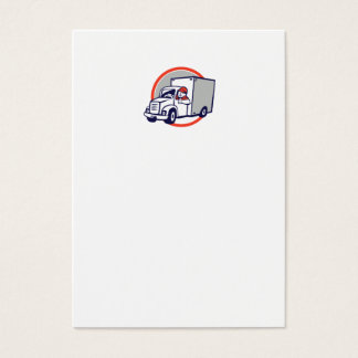 Os polegares do motorista de Van de entrega Cartão De Visitas
