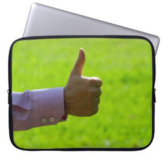 "Os polegares levantam 15"" capa para laptop"