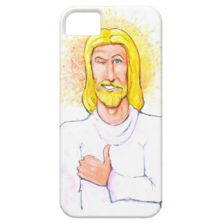 Os polegares levantam Jesus Capa Barely There Para iPhone 5