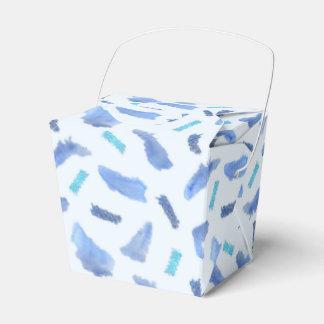 Os pontos azuis da aguarela removem a caixa do