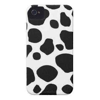Os pontos brancos pretos da vaca imprimem a case capa para iPhone 4 Case-Mate
