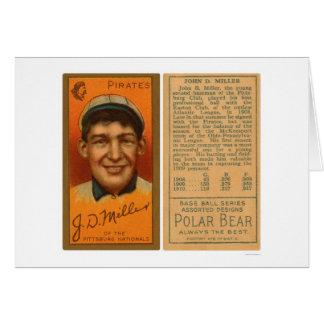 Os pontos Miller pirateiam o basebol 1911 Cartão