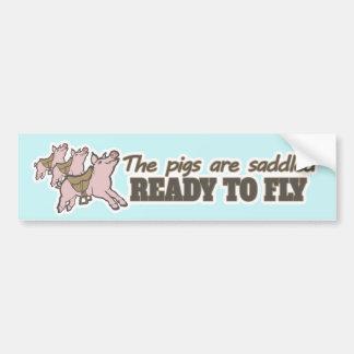 Os porcos estão prontos selado para voar o adesivo para carro