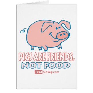 Os porcos são cartão dos amigos