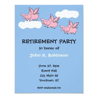 Os porcos voam o convite de festas engraçado da