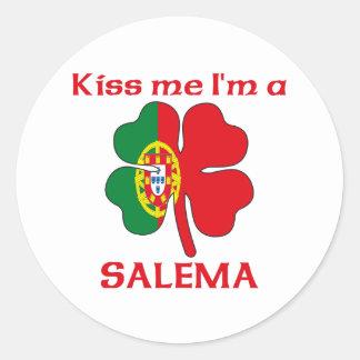 Os portuguêses personalizados beijam-me que eu sou adesivo
