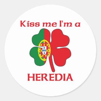 Os portuguêses personalizados beijam-me que eu sou adesivos em formato redondos