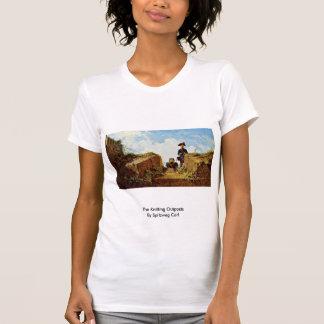 Os postos avançados de confecção de malhas por t-shirts