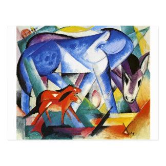 Os primeiros animais por Franz Marc Cartão Postal