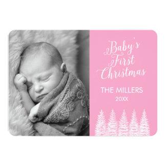 Os primeiros cartões de foto de Natal do bebê Convite 12.7 X 17.78cm