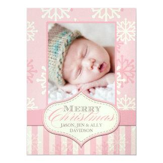 Os primeiros cartões de foto de Natal do bebê Convite 16.51 X 22.22cm