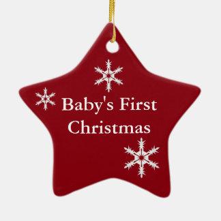Os primeiros enfeites de natal do bebê