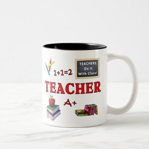 Os professores da caneca do presente do professor