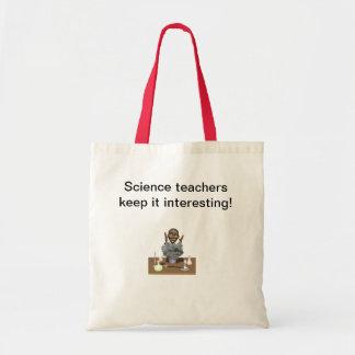 Os professores de ciências mantêm-no interessante sacola tote budget