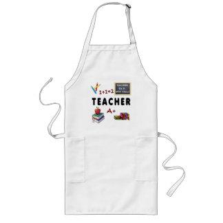 Os professores fazem-no com classe avental longo