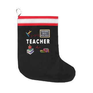 Os professores fazem-no com classe meia de natal grande
