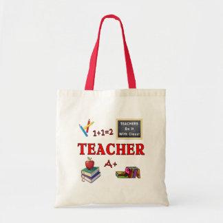 Os professores fazem-no com classe sacola tote budget