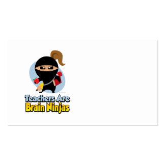Os professores são cérebro Ninjas Modelo De Cartões De Visita
