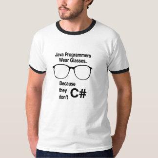 Os programadores de Java não fazem C Camiseta