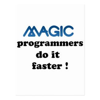 Os programadores mágicos fazem-no mais rapidamente cartão postal