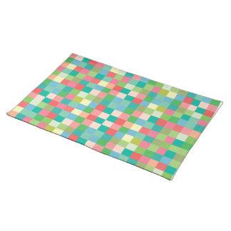 Os quadrados modelam o desenhista moderno Placemat Suporte Para Pratos