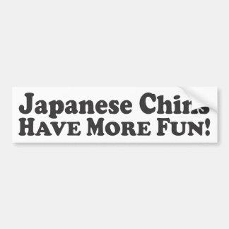 Os queixos japoneses têm mais divertimento! - Auto Adesivo Para Carro