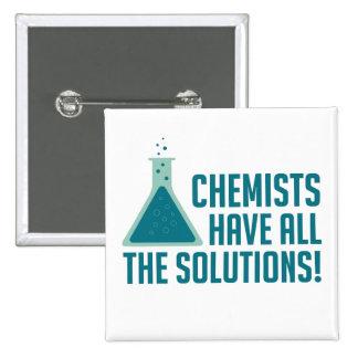 Os químicos têm todas as soluções bóton quadrado 5.08cm