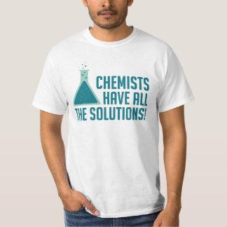 Os químicos têm todas as soluções camiseta