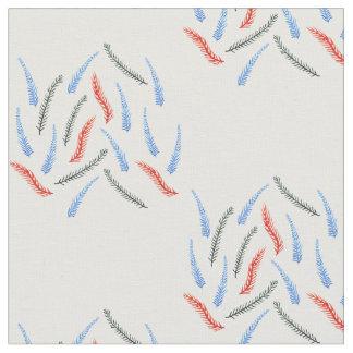 Os ramos pentearam o tecido de algodão