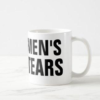 Os rasgos dos homens caneca de café