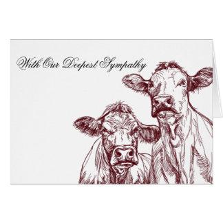 Os rebanhos animais veterinários do cartão de