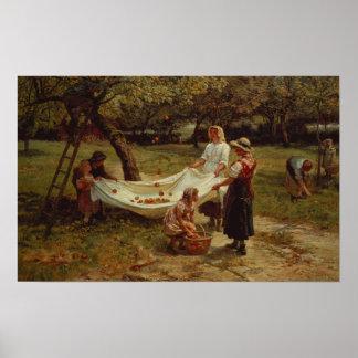 Os recolectores de Apple, 1880 Poster