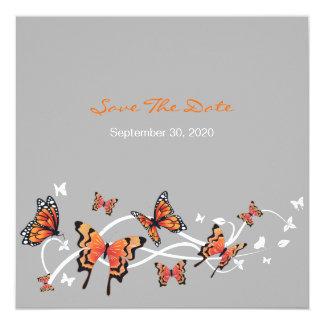 Os redemoinhos da borboleta salvar o convite do